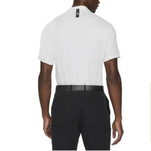 Nike Off White Tiger Woods Dri-Fit Golf Polo Shirt